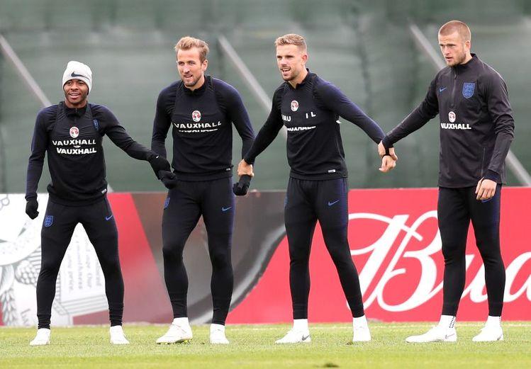 Englands Nationalmannschaft trainiert