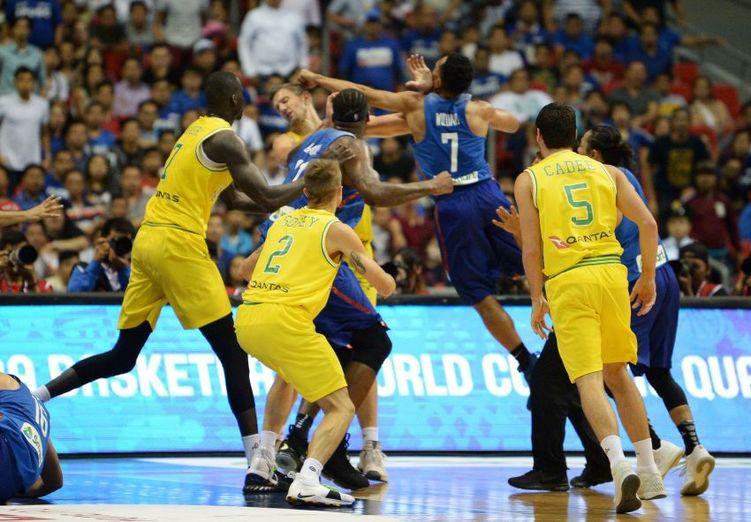 Massenschlägerei beim Basketballspiel zwischen den Philippinen und Australien